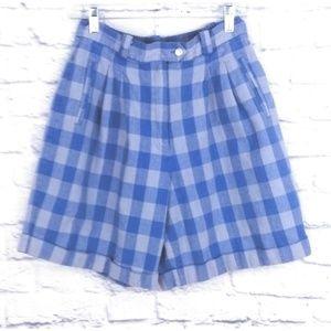 Vintage High Waist Cuffed Mom Shorts